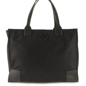 Tory Burch Black Nylon Ella Large Tote Bag NWT